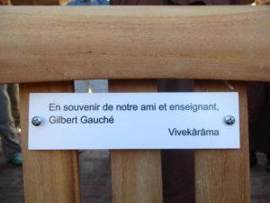 plaque en memoire de Gilbert Gauché